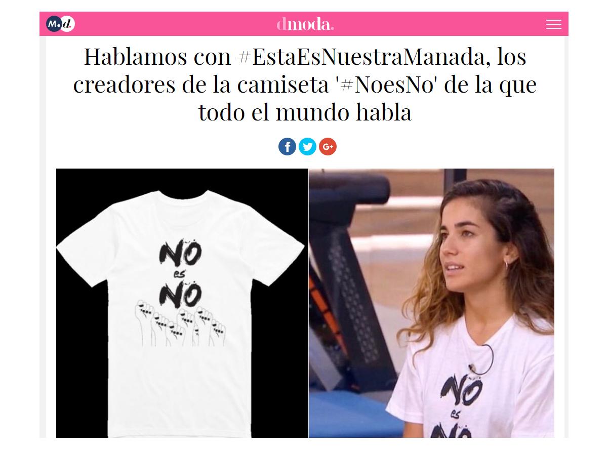 hablamos con #estaesnuestramanada, los creadores de la camiseta #noesno de la que todo el mundo habla