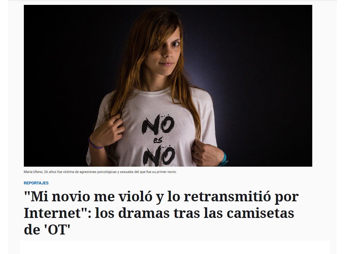 mi novio me violó y lo retransmitio por internet, los dramas tras las camisetas de ot